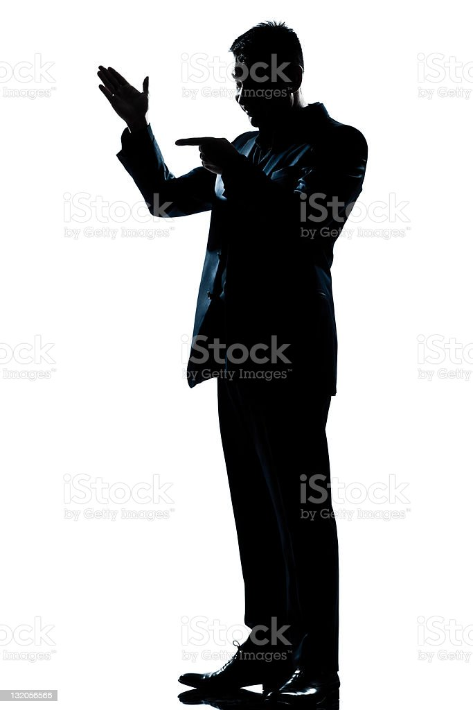 silhouette man full length friendly menacing royalty-free stock photo