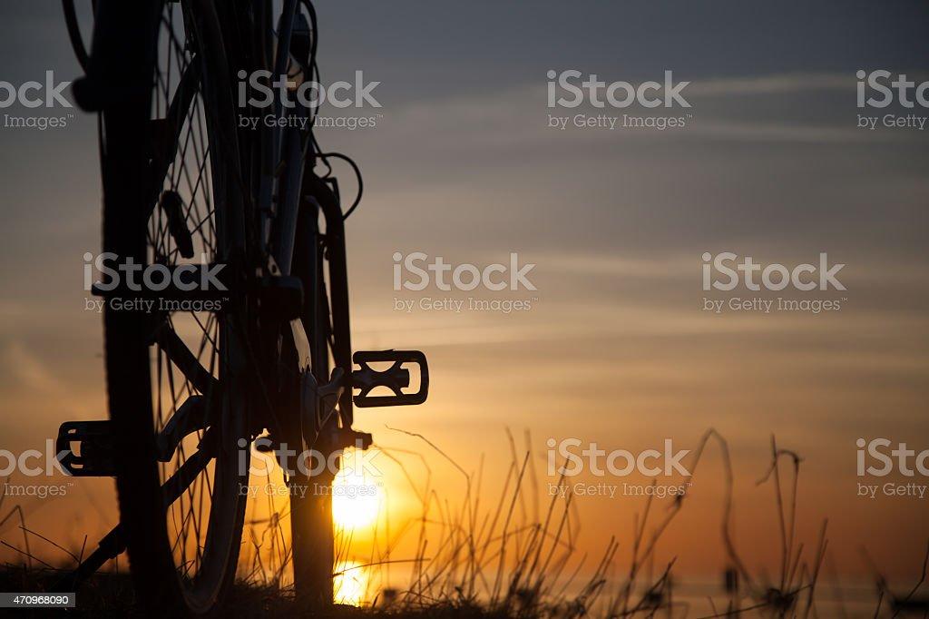 Silueta de bicicleta foto de stock libre de derechos