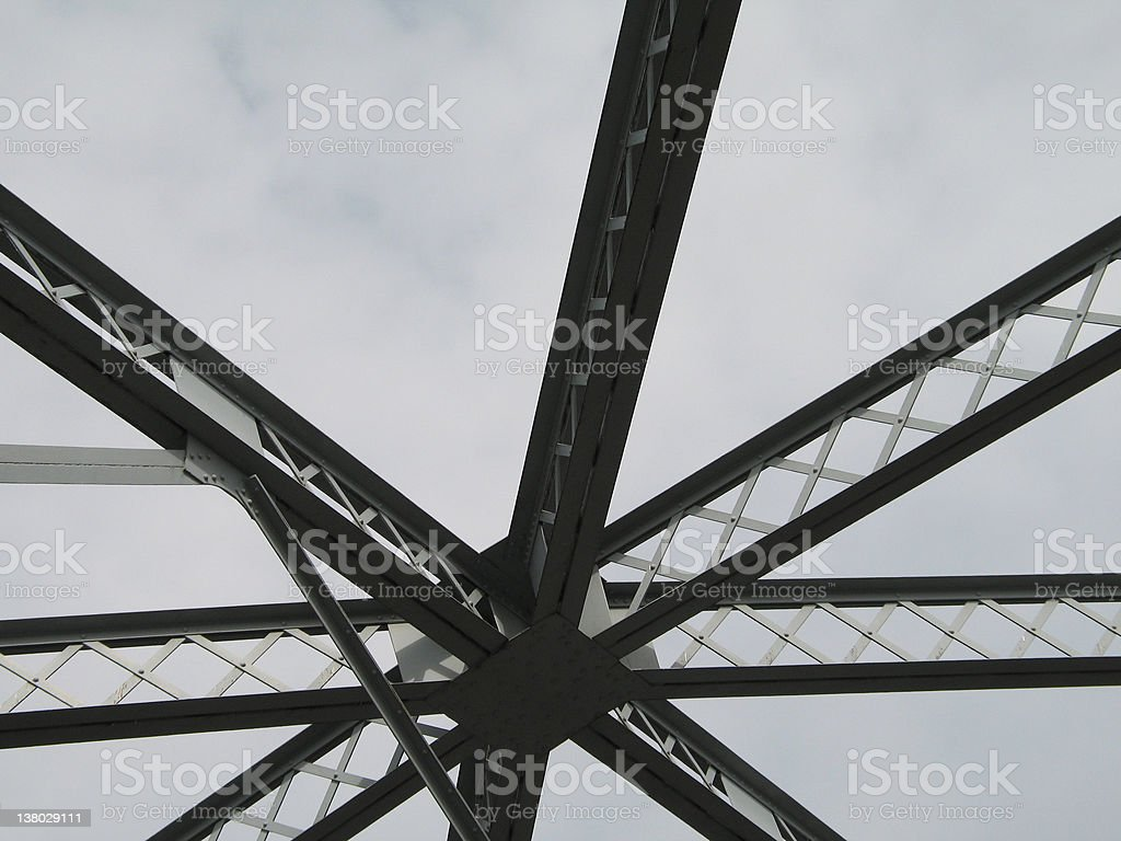 silhouette of a bridge structure royalty-free stock photo