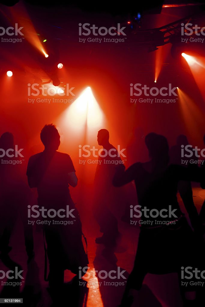 silhouette of a dancing poeple royalty-free stock photo