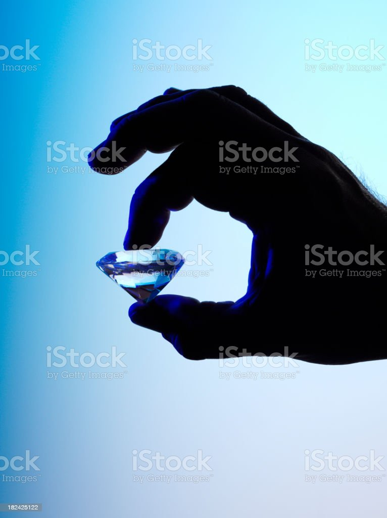 Silhouette of a Diamond royalty-free stock photo