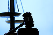 Silhouette Of A Gavel And Scales Of Justice