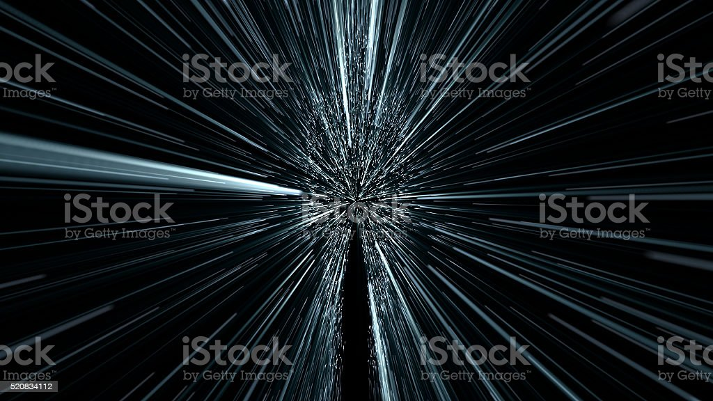 silhouette of a human, hyperspace jump stock photo