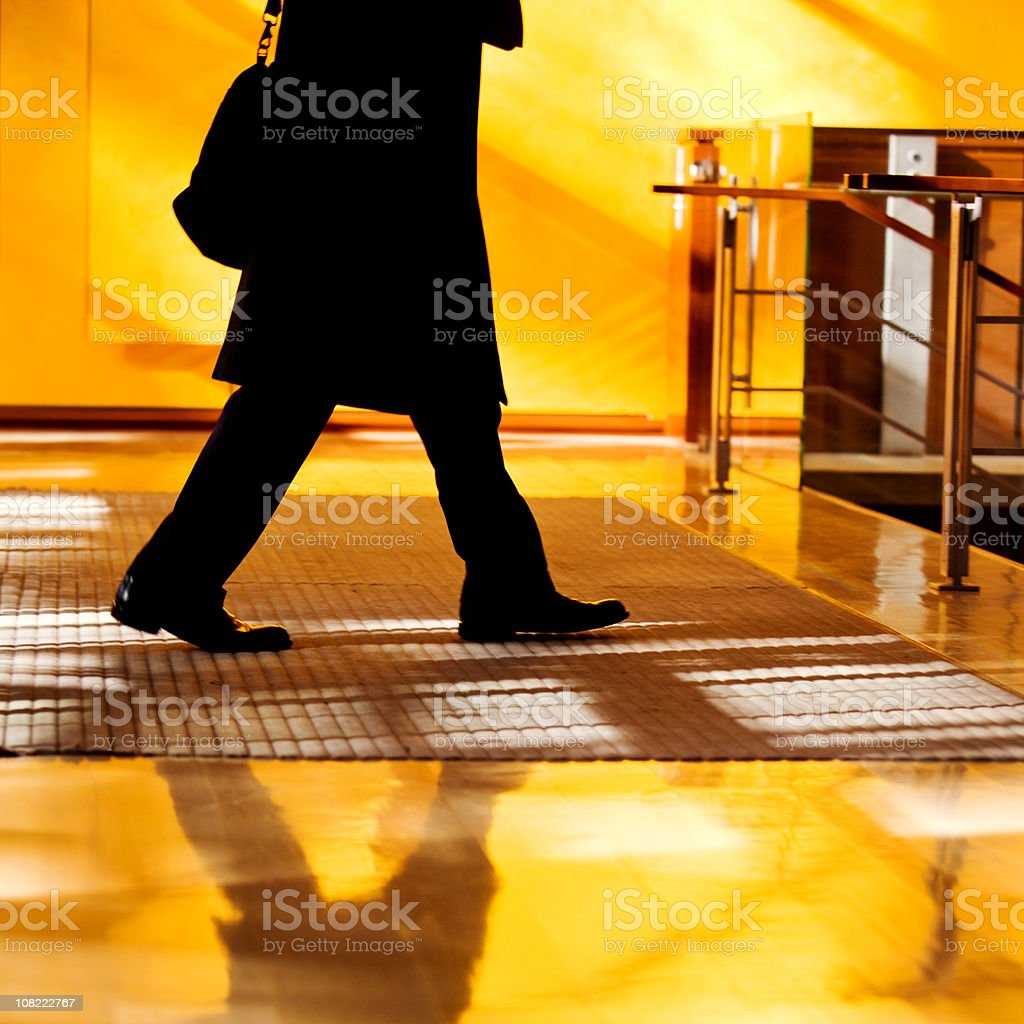 Silhouette of Businessman royalty-free stock photo