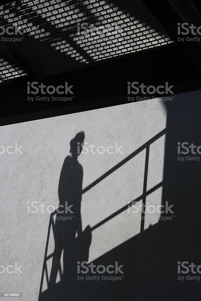 Silhouette of Businesswoman royalty-free stock photo