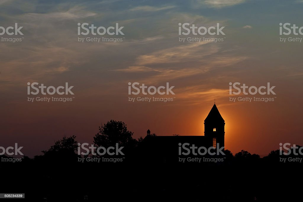 Silhouette Of Cathedral royalty-free stock photo