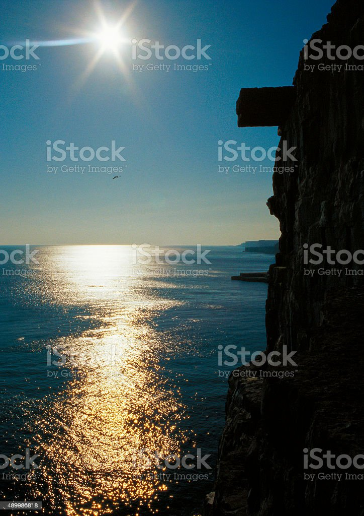 Silhouette of Cliffs stock photo