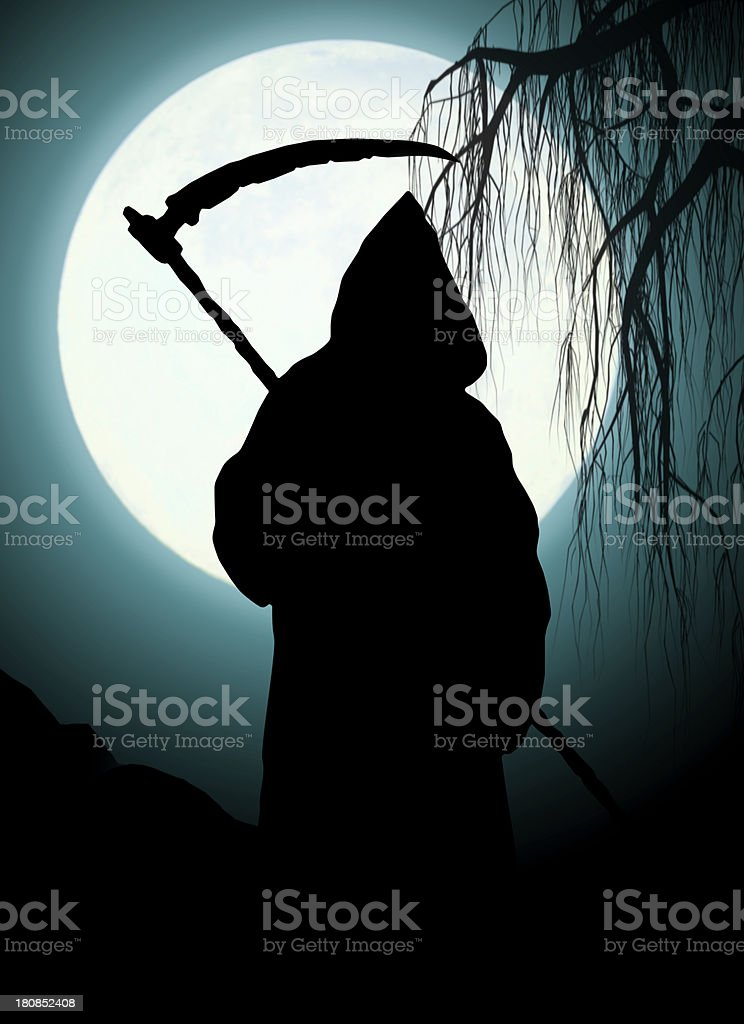 Silhouette of death stock photo