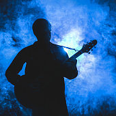 Silhouette of guitarist