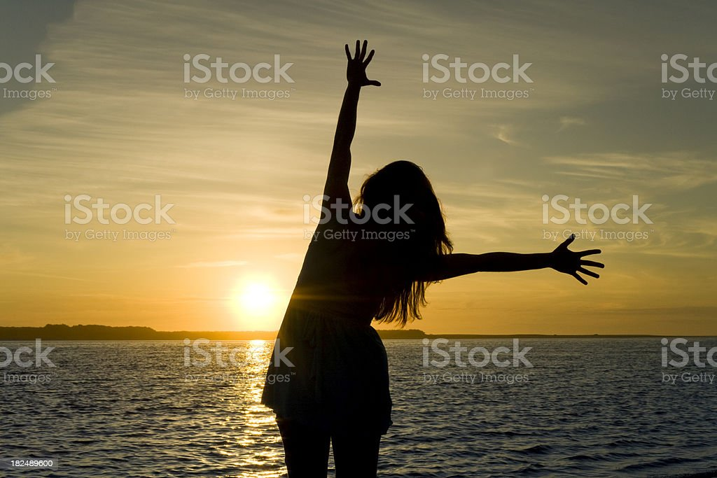 Silhouette of Joy stock photo