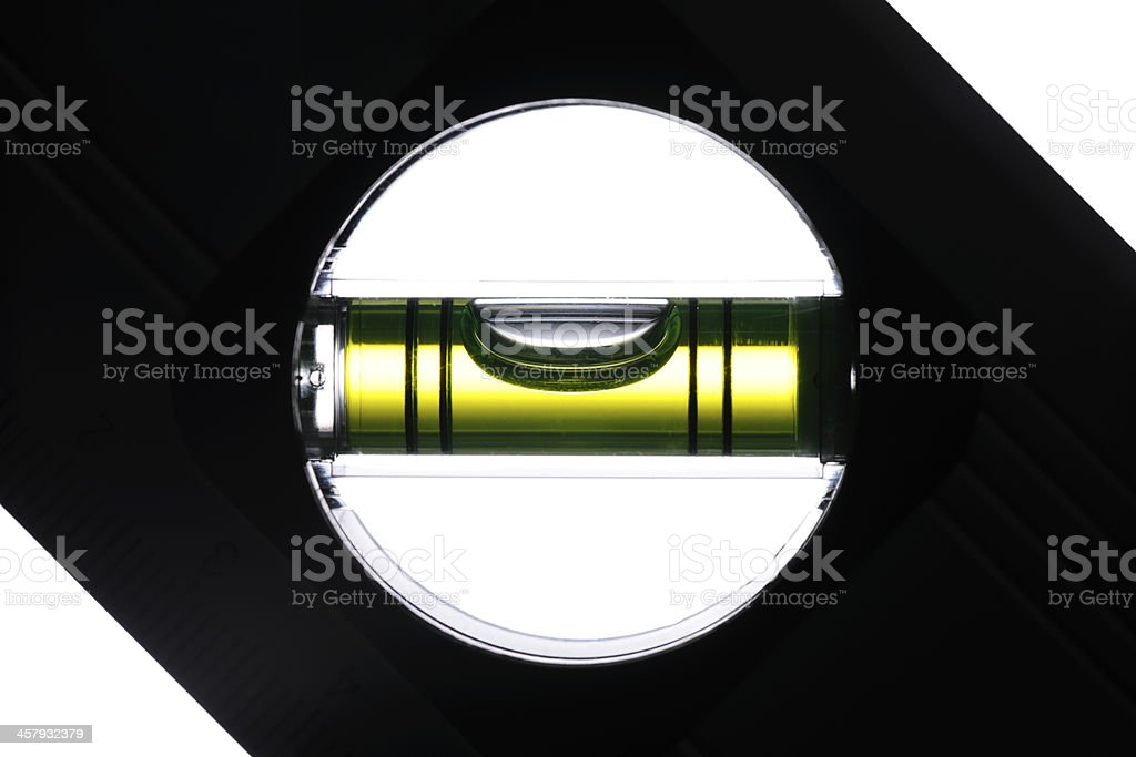 Silhouette of level against white background stock photo