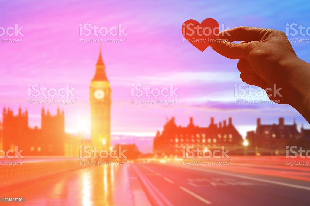 silhouette of romantic lovers hand stock photo