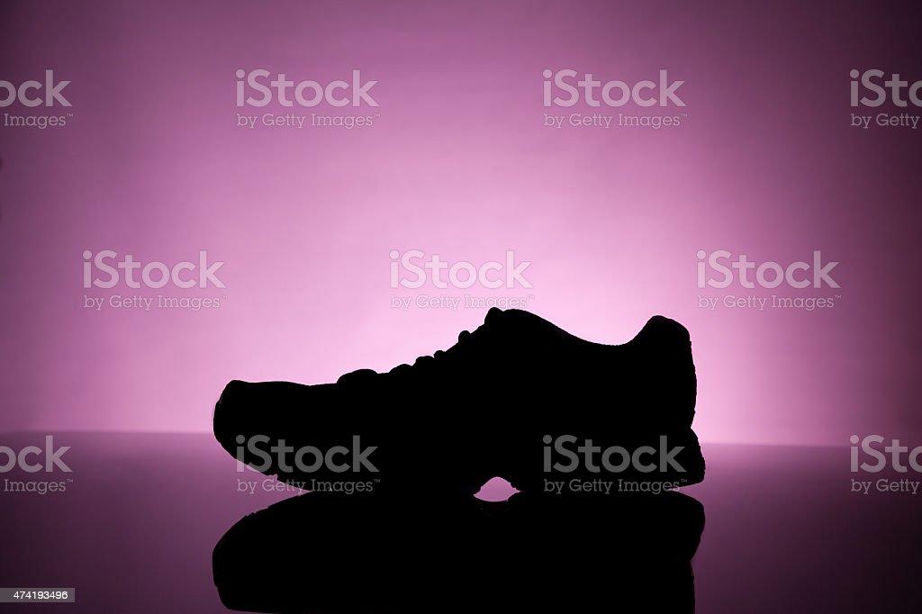 Silueta de zapatillas foto de stock libre de derechos