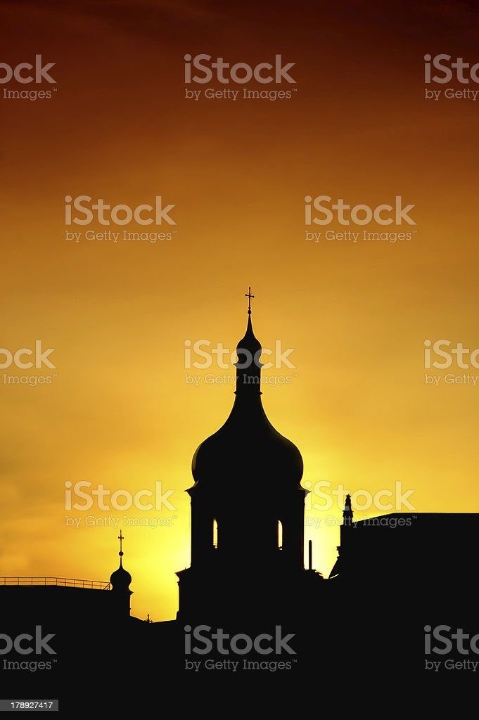 Silhouette of St. Sophia's Cathedral in Kyiv, Ukraine royalty-free stock photo
