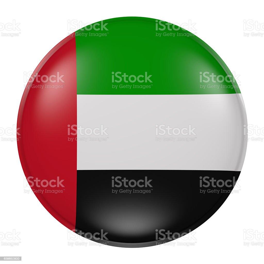 Silhouette of United Arab Emirates button stock photo