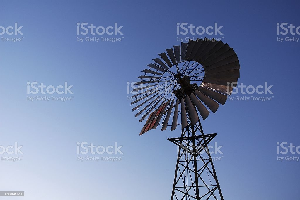 Silhouette of Windmill royalty-free stock photo