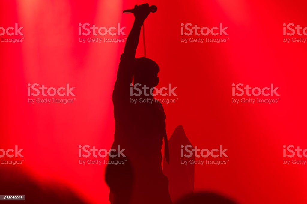 Silhouette on Stage stock photo
