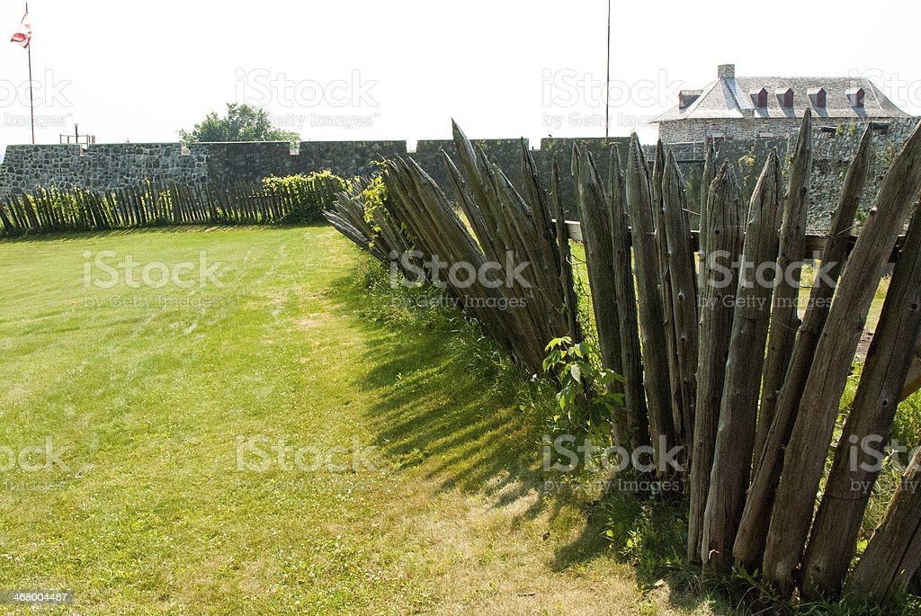 Silhouette Outer Walls Fort Ticonderoga New York stock photo