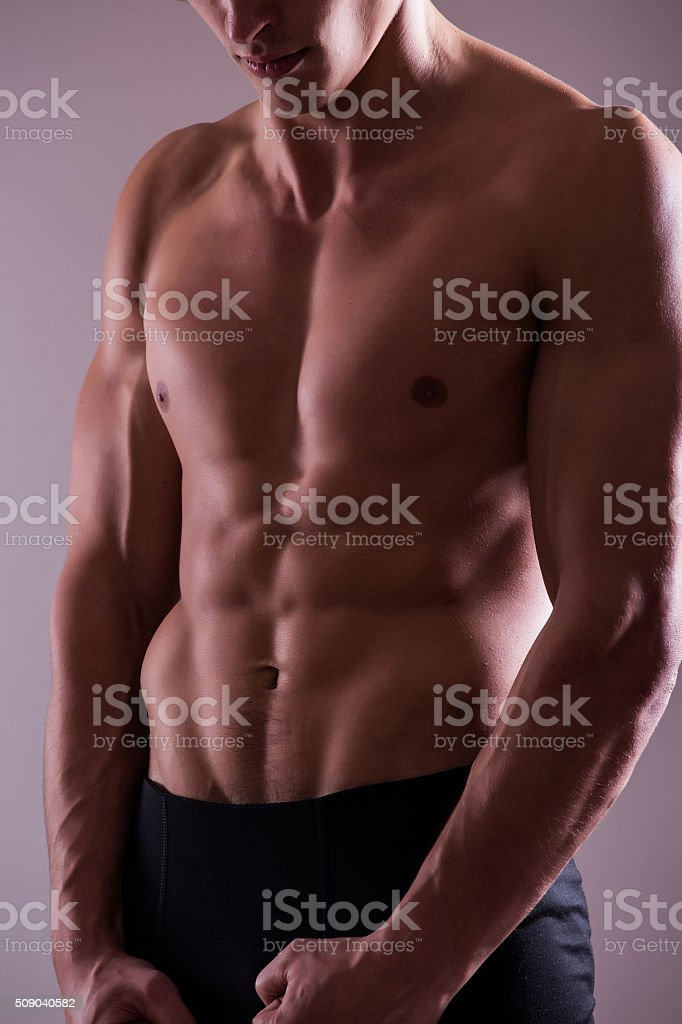 Silhouette Part of a man's body on a white  background stock photo