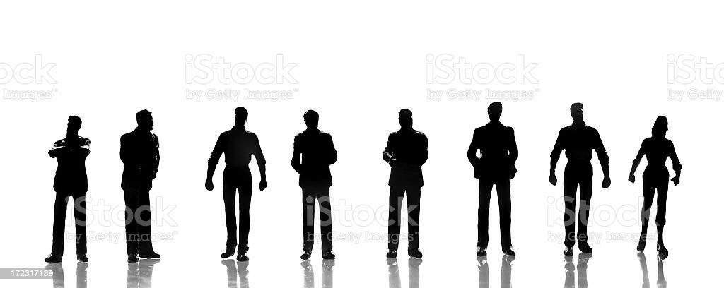 Silhouette people (request) royalty-free stock photo