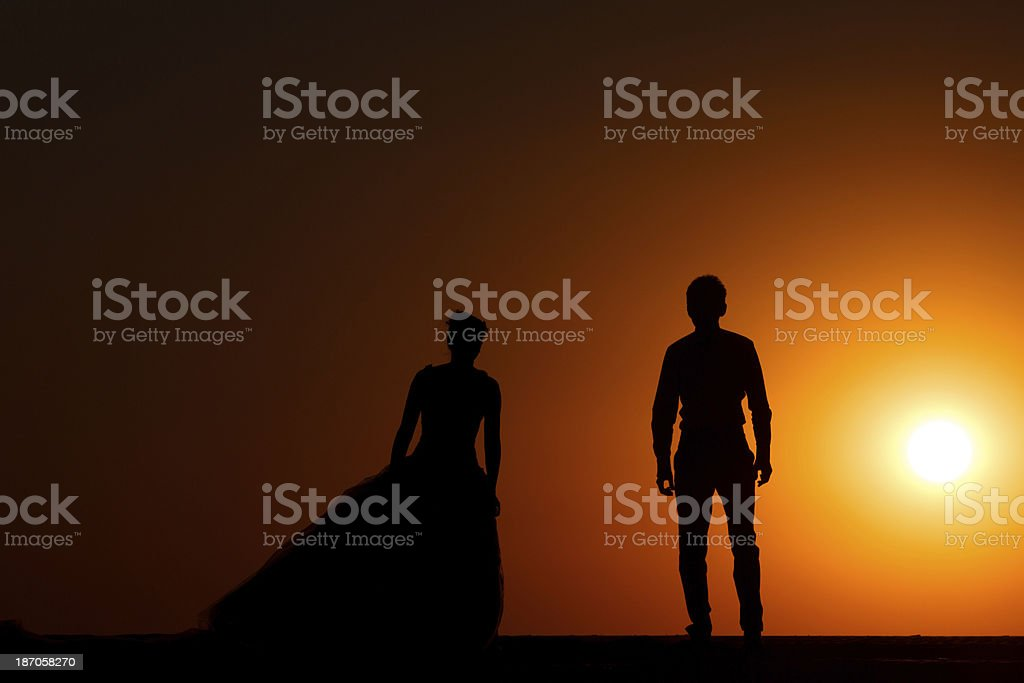 Silhouette People royalty-free stock photo