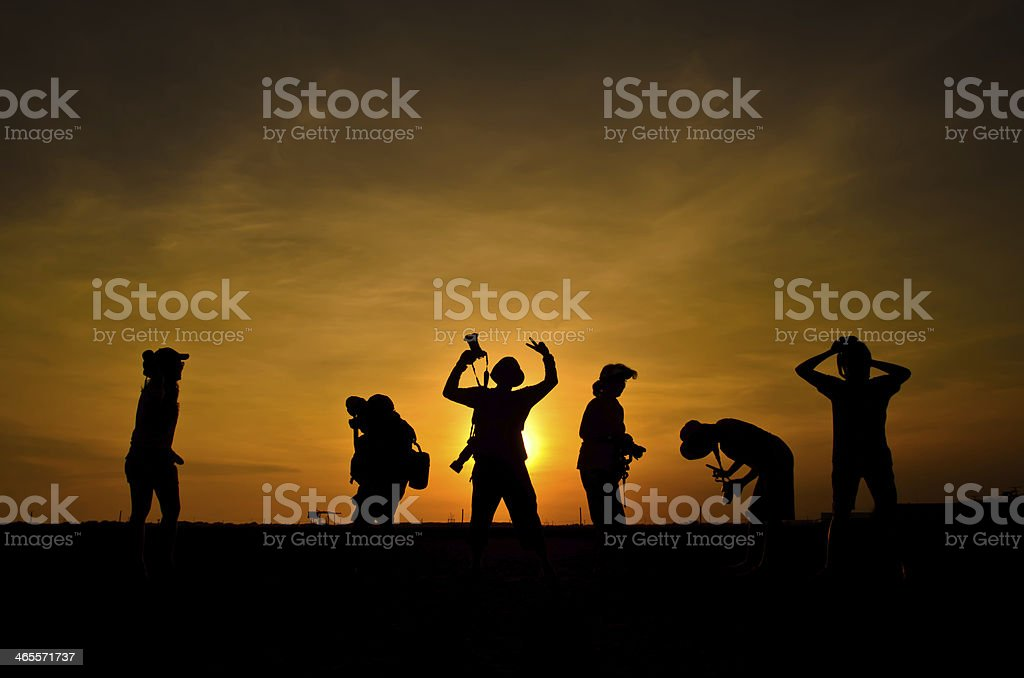 silhouette photographer. royalty-free stock photo