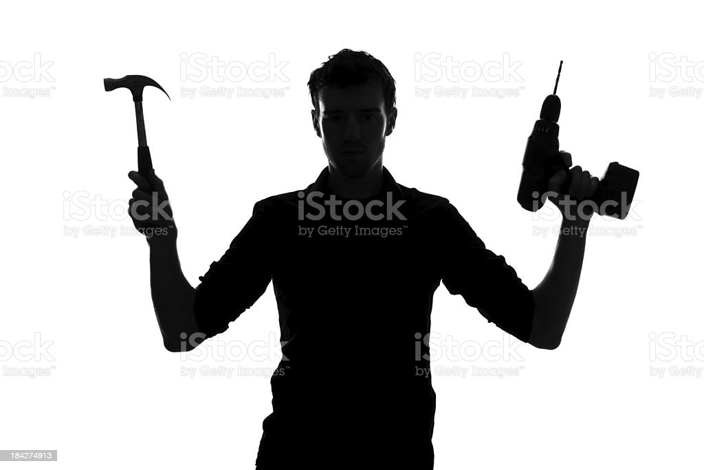 DIY Silhouette royalty-free stock photo