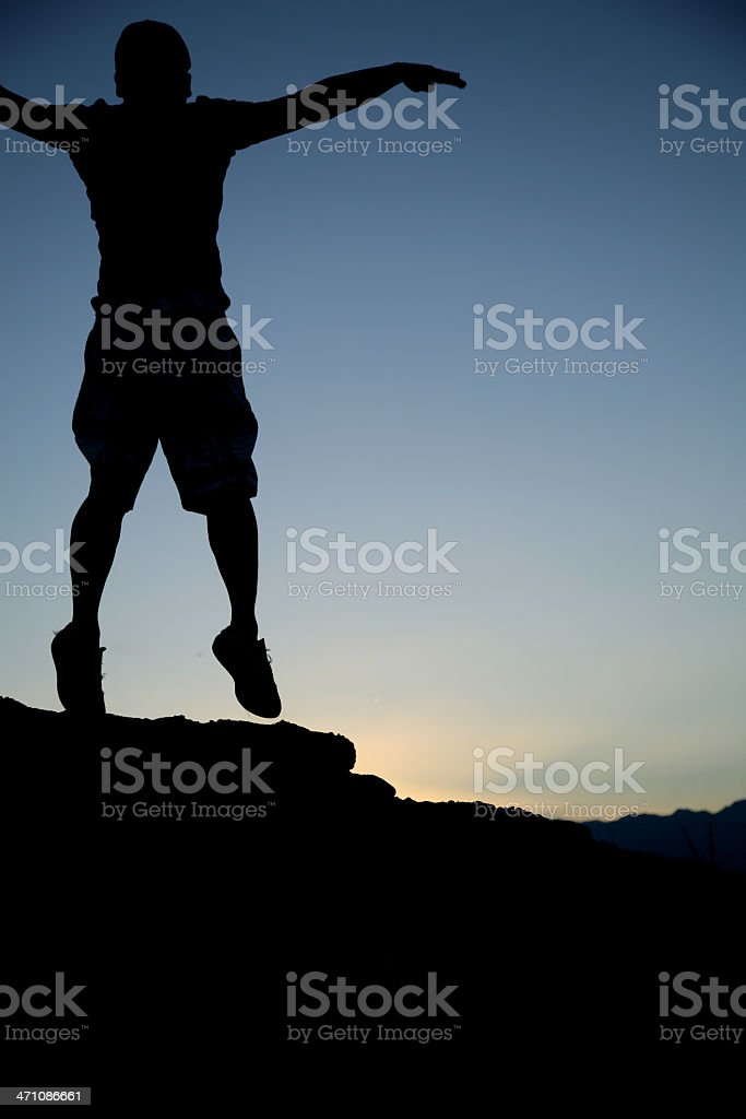 Silhouette (happiness) royalty-free stock photo