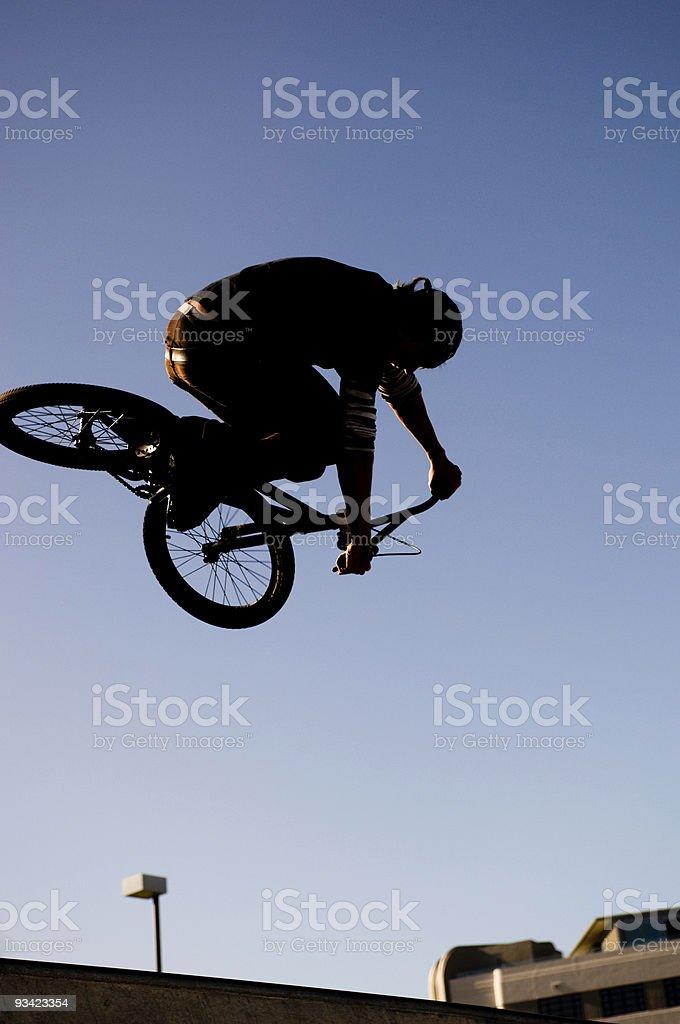 BMX Silhouette royalty-free stock photo