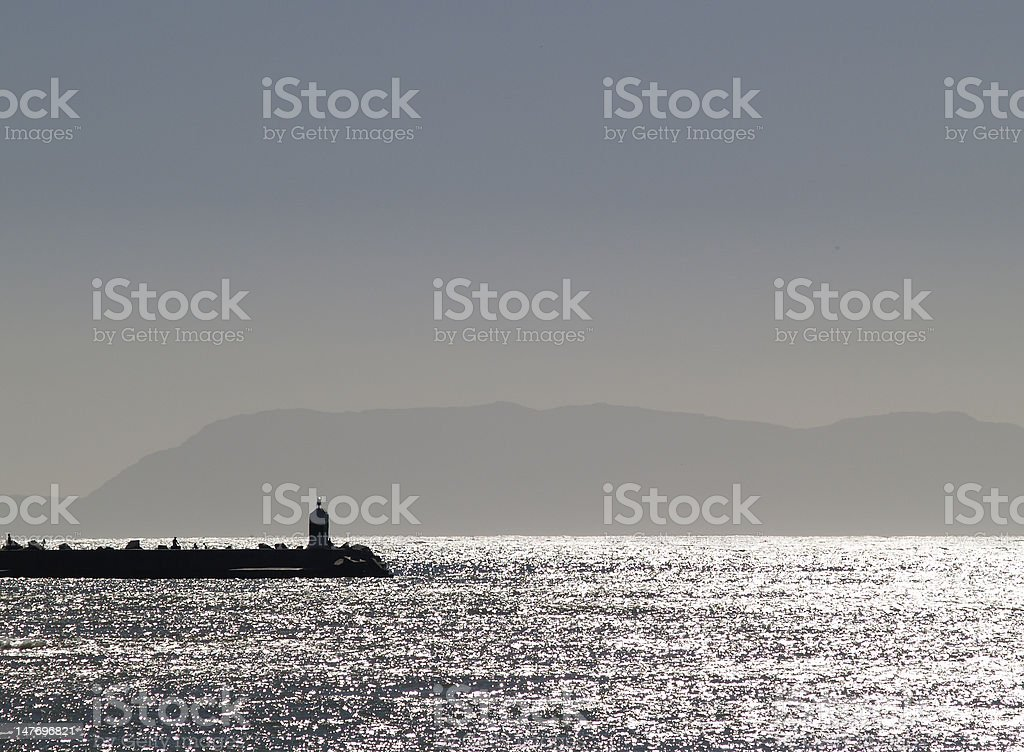 Silhouette Pier royalty-free stock photo