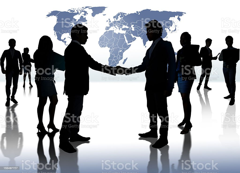 Silhouette Togetherness royalty-free stock photo