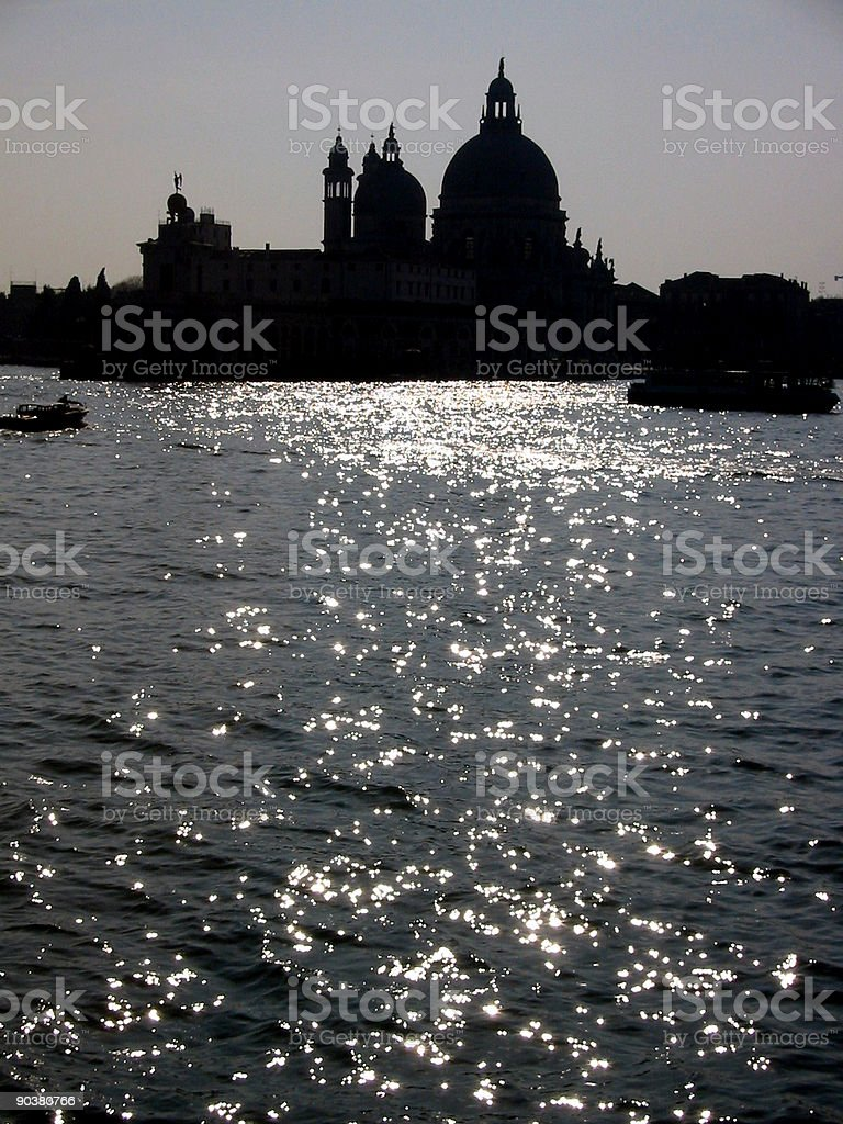Silhouette view of Venice beauty, Italy royalty-free stock photo