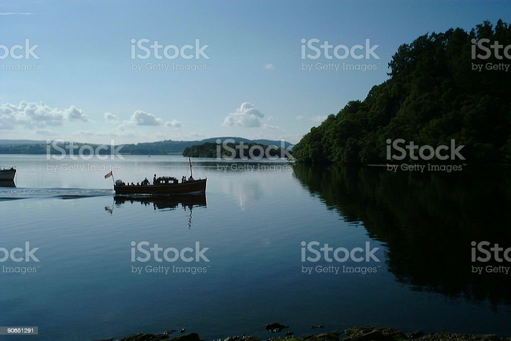 Silhouetted Boat royalty-free stock photo