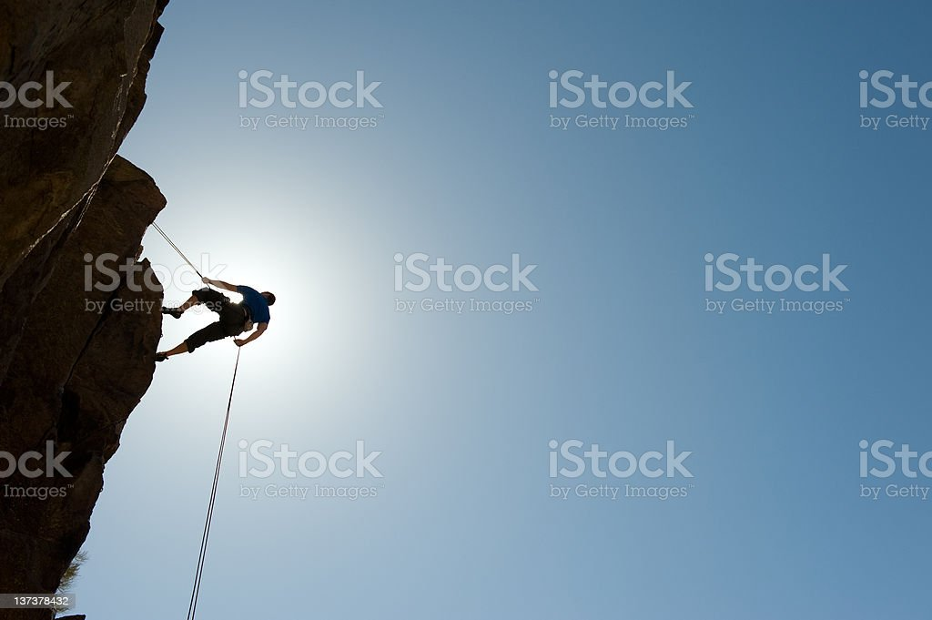 Silhouetted Climber royalty-free stock photo