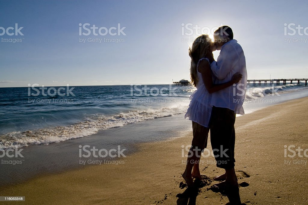 Silhouetted Couple royalty-free stock photo