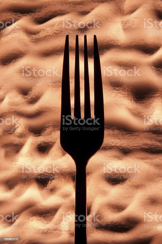 Silhouetted Fork royalty-free stock photo
