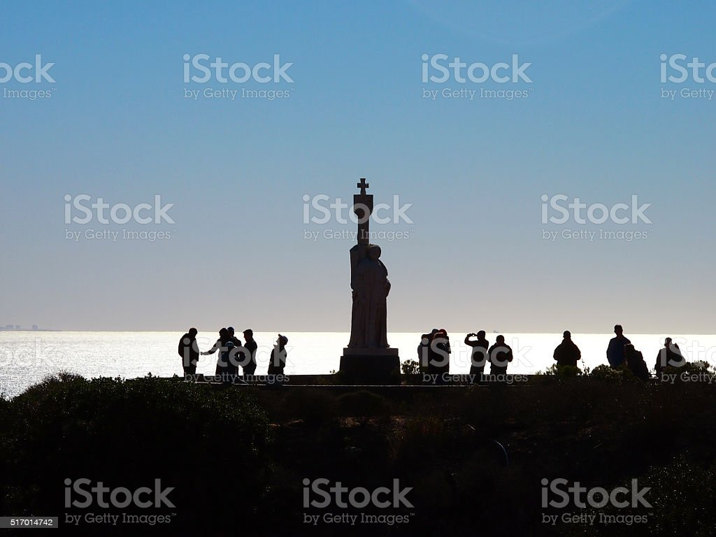 Silhouettes at Cabrillo National Monument stock photo