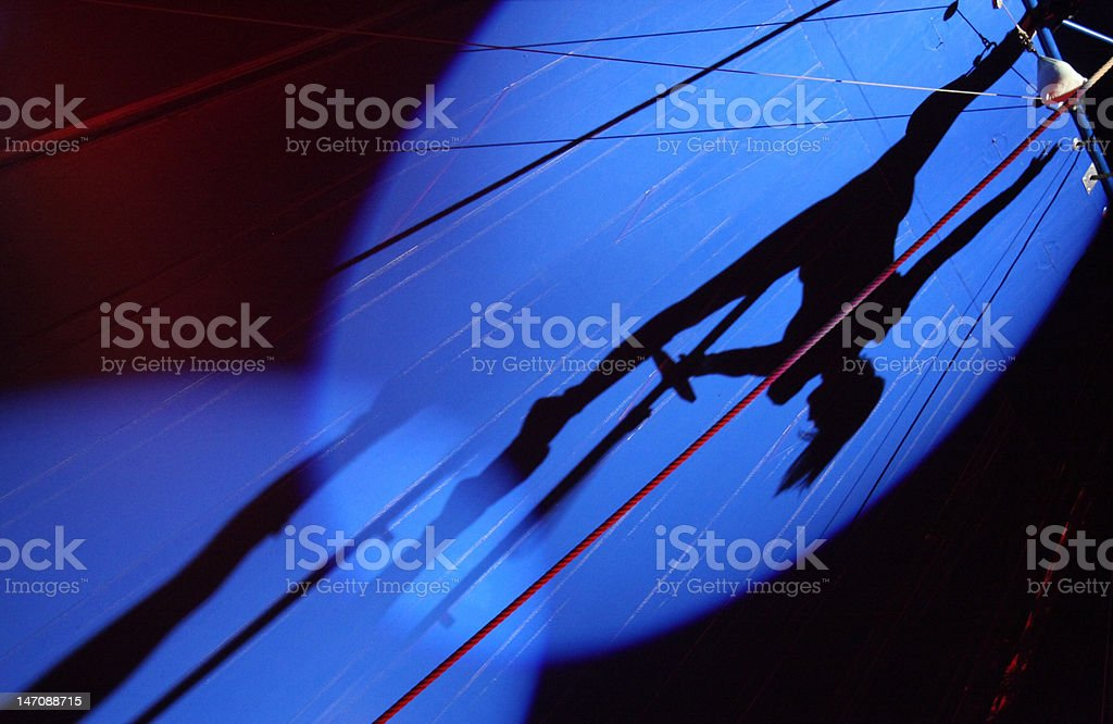 silhouettes in circus royalty-free stock photo