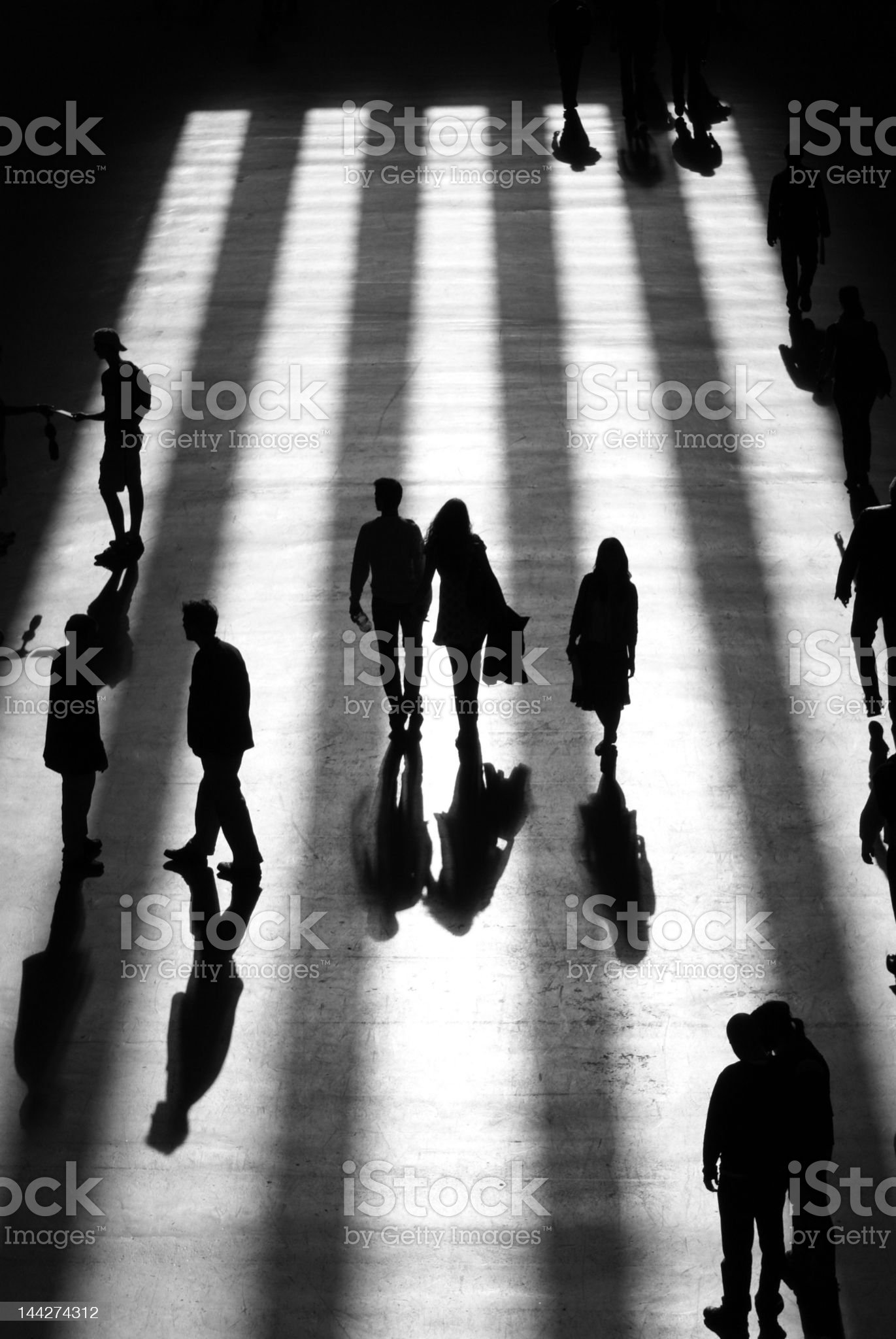 Silhouettes in the Gallery royalty-free stock photo