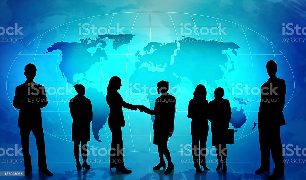 Silhouettes of Business People. royalty-free stock photo