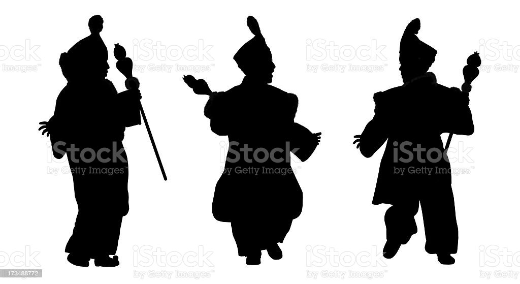 silhouettes of little prince from orient stock photo