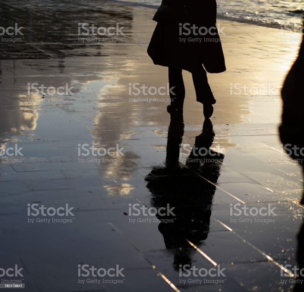 Silhouettes of Rain royalty-free stock photo