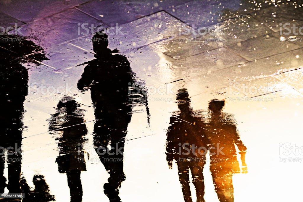 Silhouettes Of The Rain stock photo