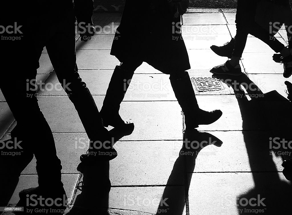 Silhouettes_of_legs stock photo