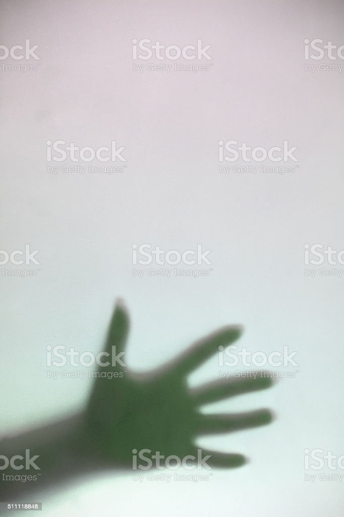 Silhoulette Hand stock photo