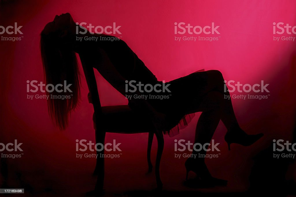 Silhoutte of an actor royalty-free stock photo