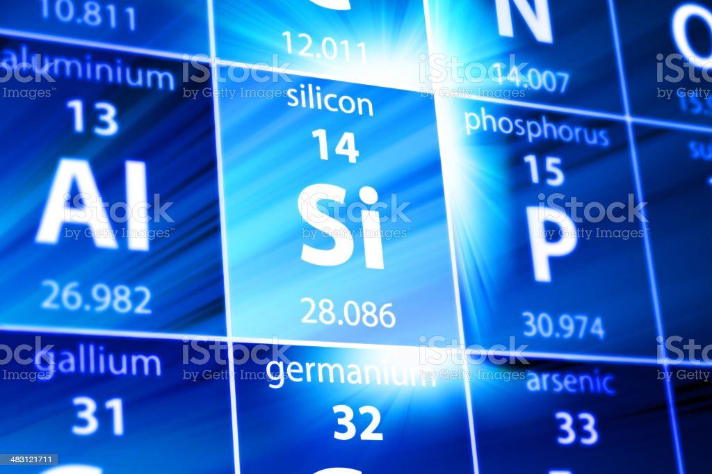 Silicon Si Periodic Table stock photo