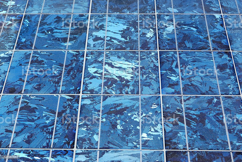 silicon solar panel close up royalty-free stock photo