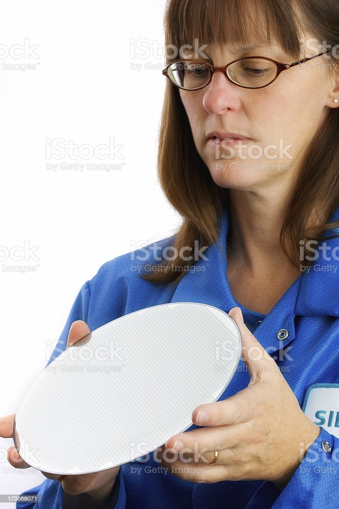 Silicon Wafer Inspection royalty-free stock photo