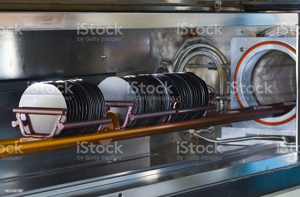 Silicon Wafer Manufacturing stock photo